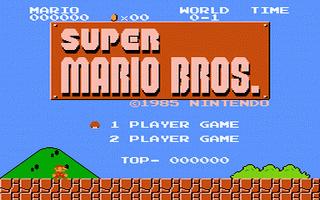 מסע אל העבר - משחקים ישנים - תמונה מתוך המשחק 'Super Mario Bros.'